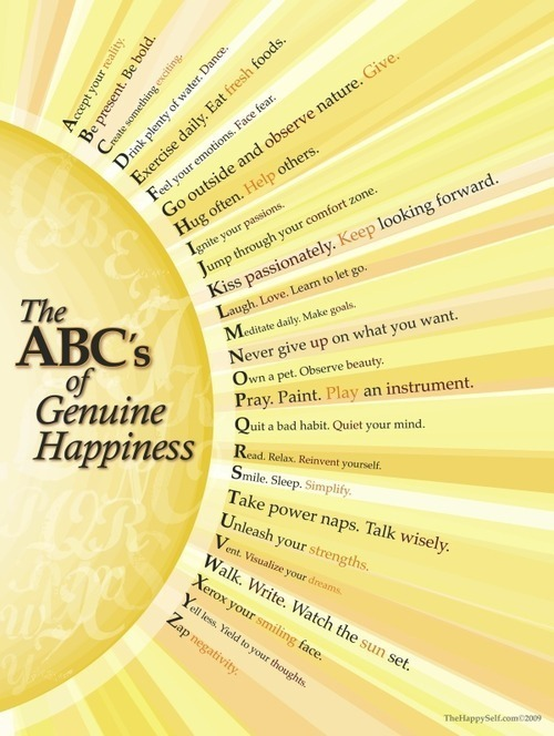 abcs of genuine happiness