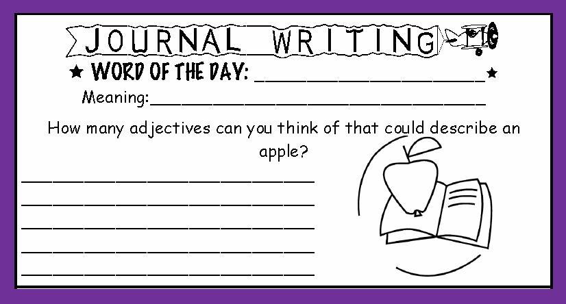 journal writing sample